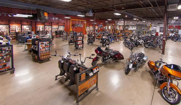 Mike's Famous Harley-Davidson showroom